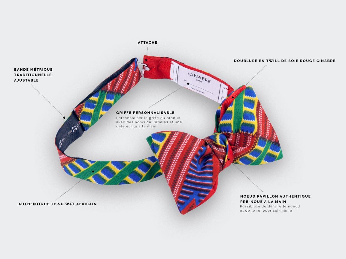 Red Wax Bow Tie - Cinabre Paris