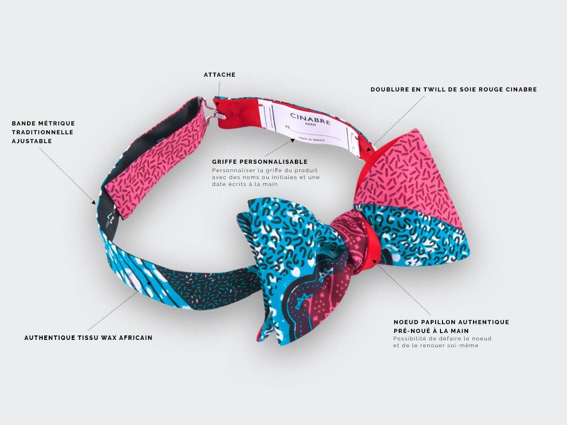Pink Wax Bow Tie - Cinabre Paris