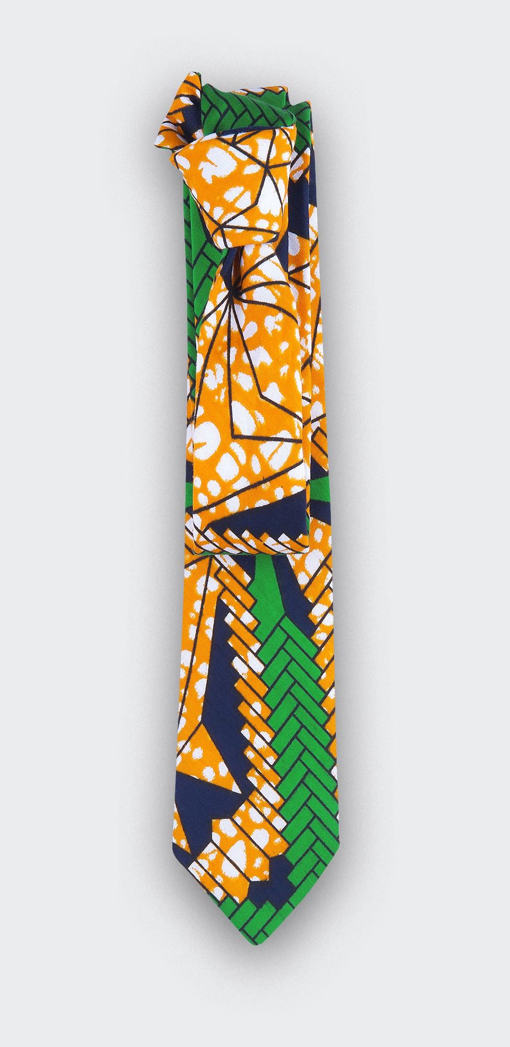 Orange Wax Tie - Cinabre Paris