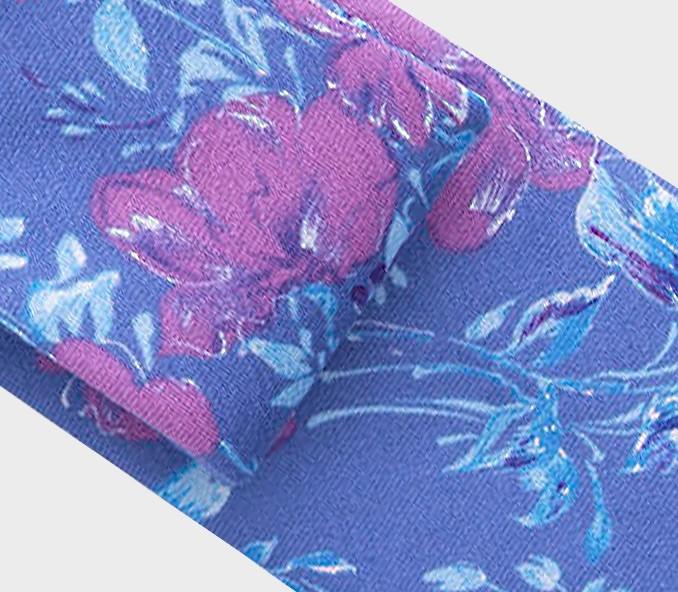 Lavander floral tie - wool - cinabre paris