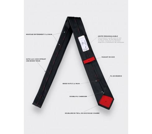 Black Satin Tie - silk - cinabre paris