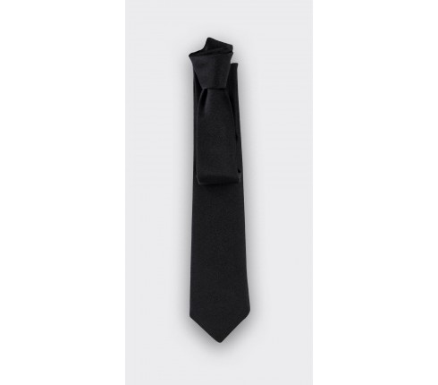 Black Satin Tie - silk - cinabre paris