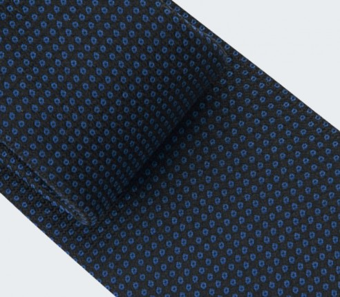 Navy Blue Birdseye Tie - silk - cinabre paris