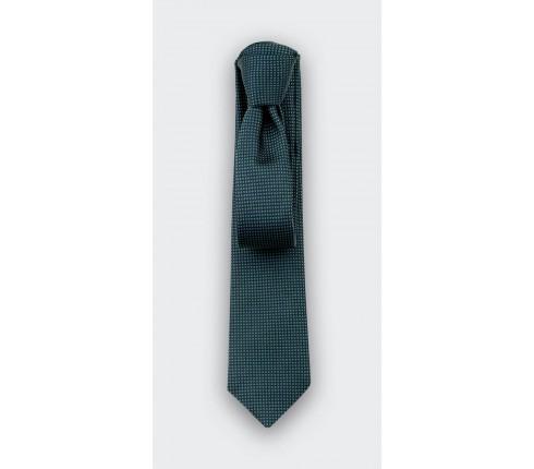 Green Birdseye silk Tie - cinabre paris