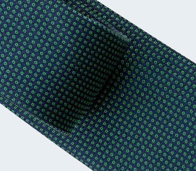 Cravate Caviar soie vert - cinabre paris