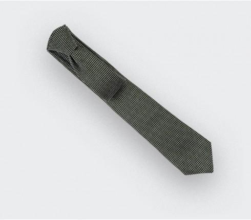 Cravate Caviar soie noir et blanc - Cinabre Paris