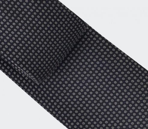 Grey Birdseye silk Tie - cinabre paris