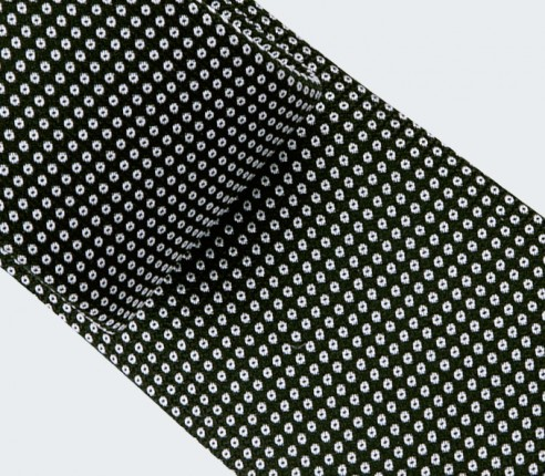 Black and white Birdseye silk Tie - cinabre paris