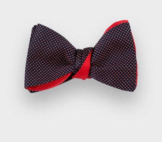 Pink Birdseye silk bow tie - cinabre paris