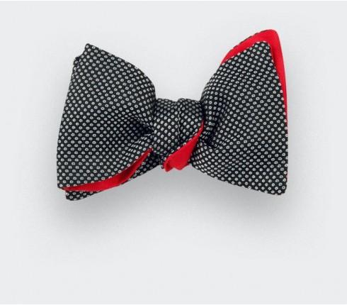 Noeud papillon caviar soie noir et blanc - cinabre paris