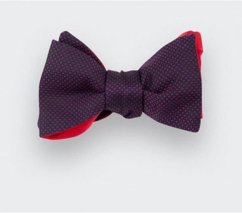 Noeud papillon caviar soie bordeaux - cinabre paris