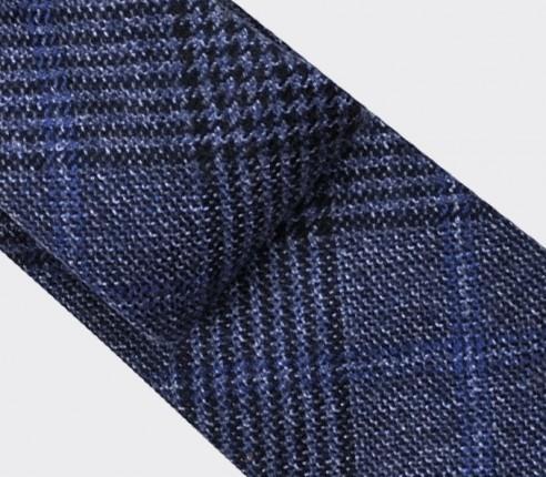 cravate bleu marine prince de galles - cinabre paris