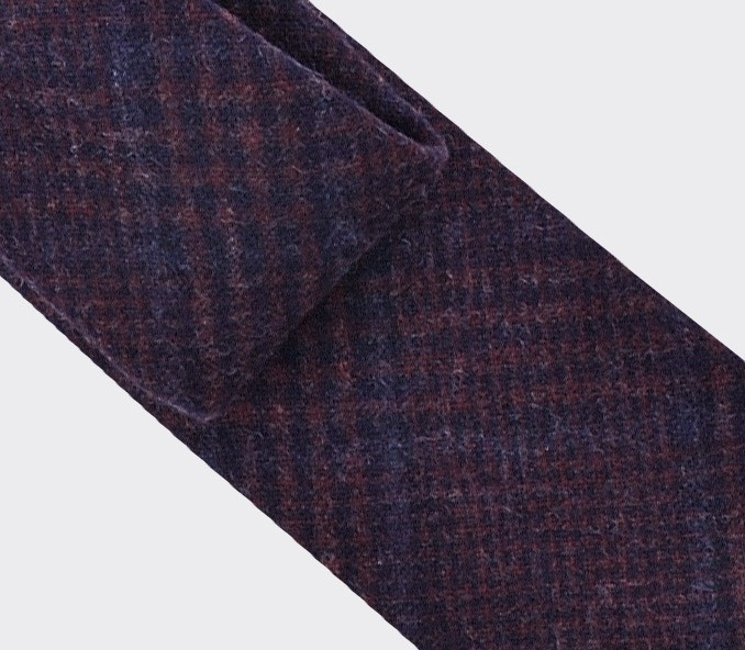 Burgundy glen plaid tie - cinabre paris