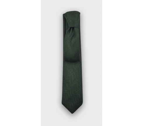 Cravate Chevron vert forêt - cinabre paris
