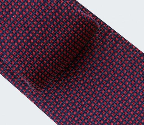 Burgundy Birdseye silk Tie- cinabre paris