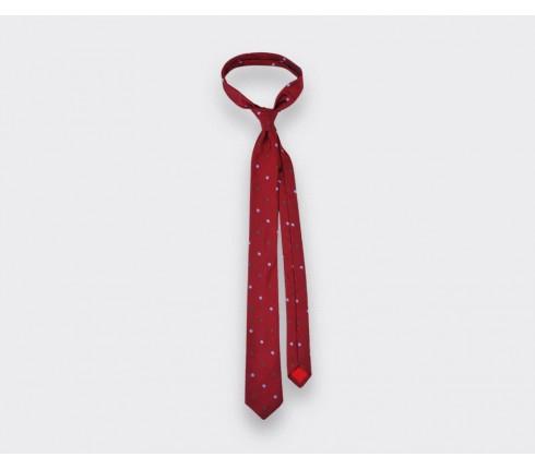 Red snowflake tie - cinabre paris