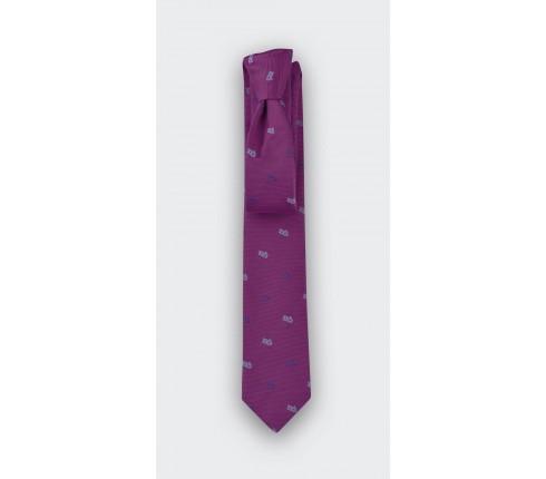 cravate luge fuchsia - cinabre paris
