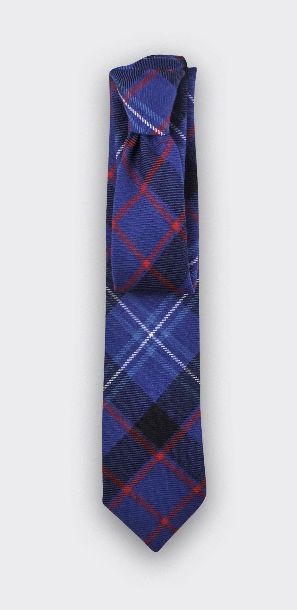 tartan fitzgerald blue tie - cinabre paris