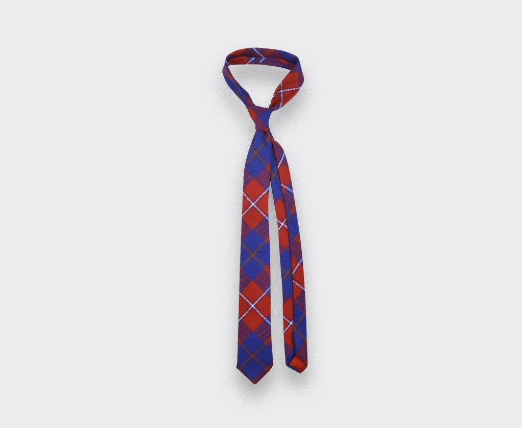 red Galloway tartan tie - cinabre paris