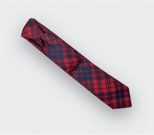 Red ross tartan tie - cinabre paris