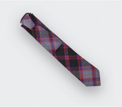 cravate tartan gris - cinabre paris