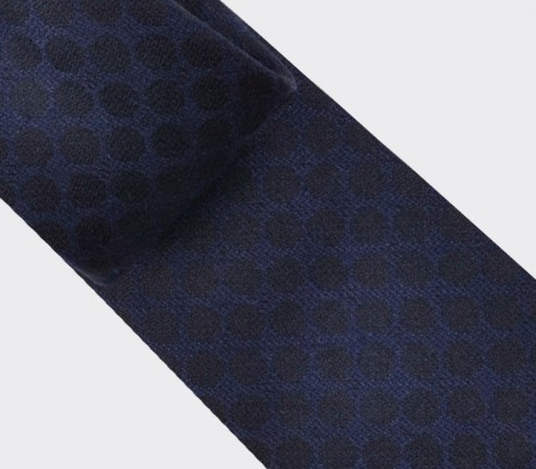 navy blue polka dots tie - cinabre paris
