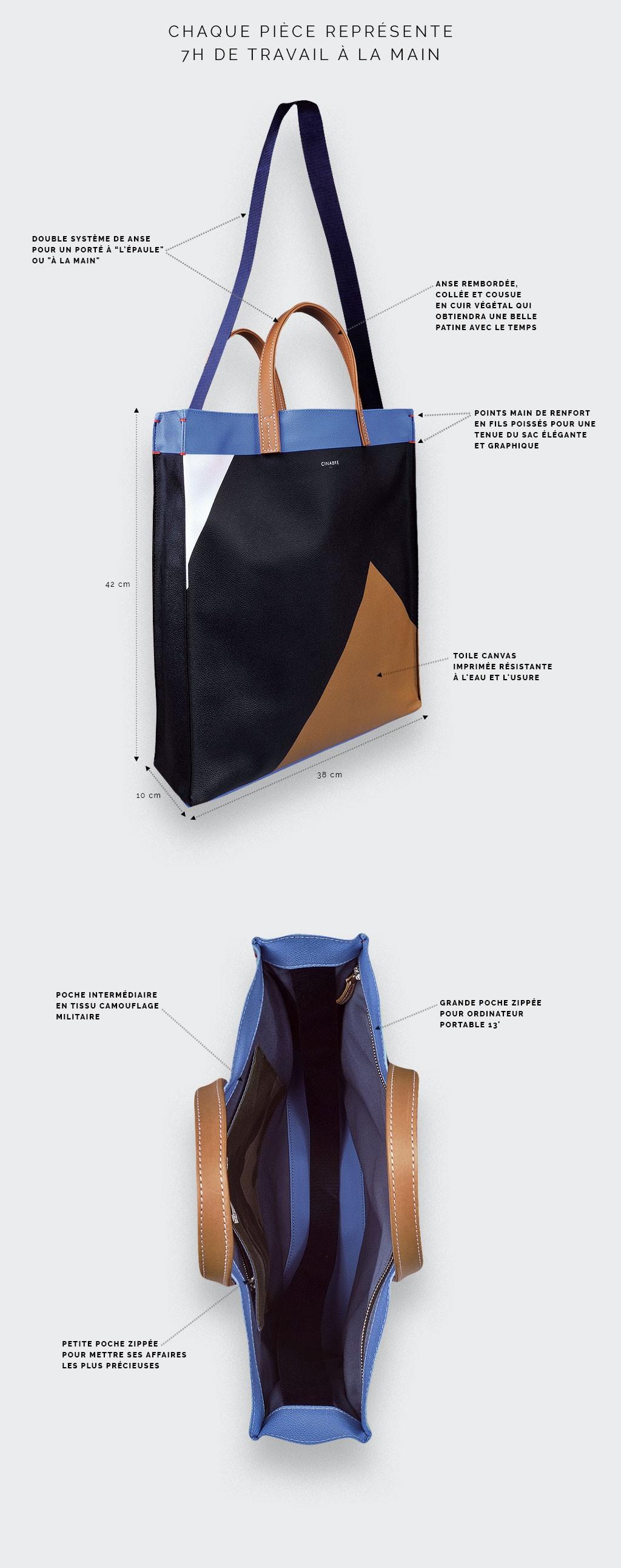 Men's tote bag by Cinabre
