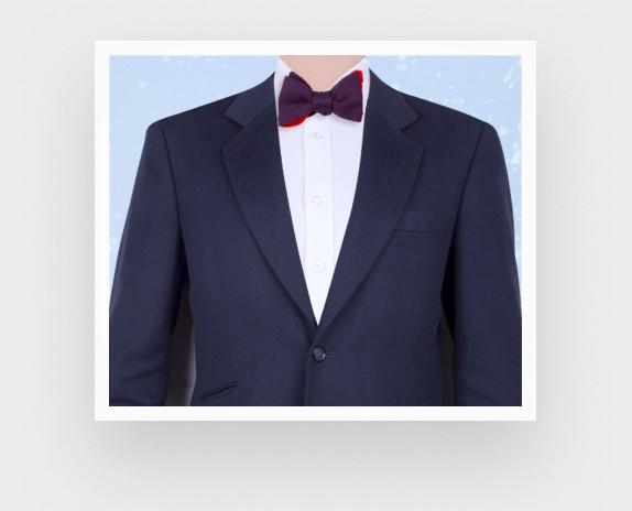 Burgundy Birdseye silk bow tie - cinabre paris