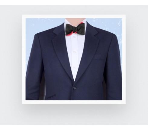 CINABRE Paris - Bow Tie - Peau Noir - Made in France