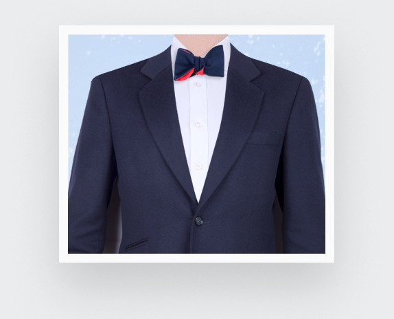 CINABRE Paris - Bow Tie - Peau Bleu - Made in France