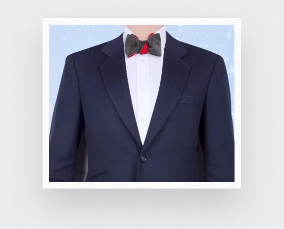CINABRE Paris - Bow Tie - Peau Gris - Made in France