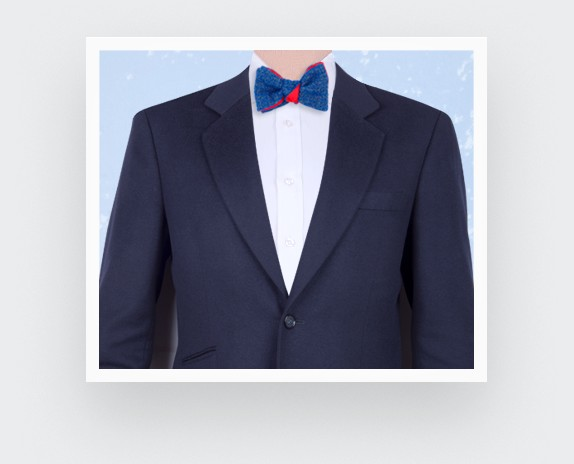 CINABRE Paris - Bow Tie - 1001 Nuits Bleu - Made in France