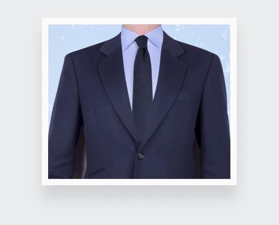 Cravate Caviar Bleu Marine - soie - cinabre paris