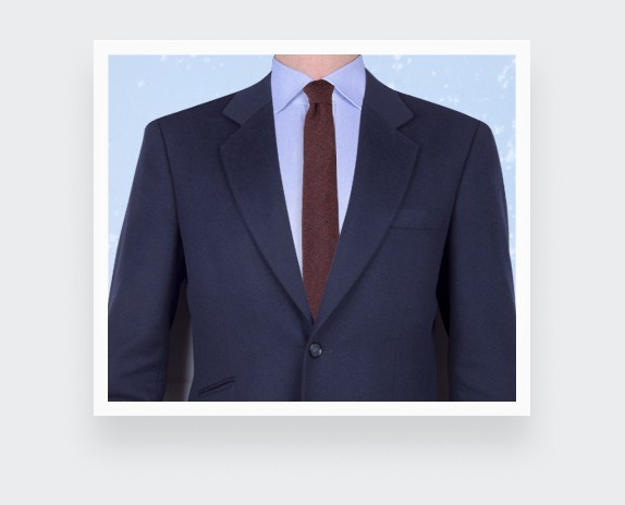 cravate flanelle bordeaux - laine - cinabre paris