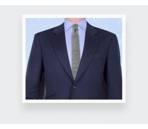 cravate flanelle gris - laine - cinabre paris