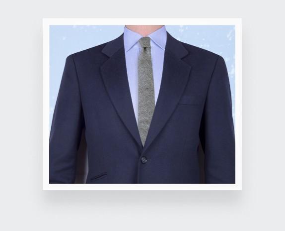 grey flannel tie - wool - cinabre paris