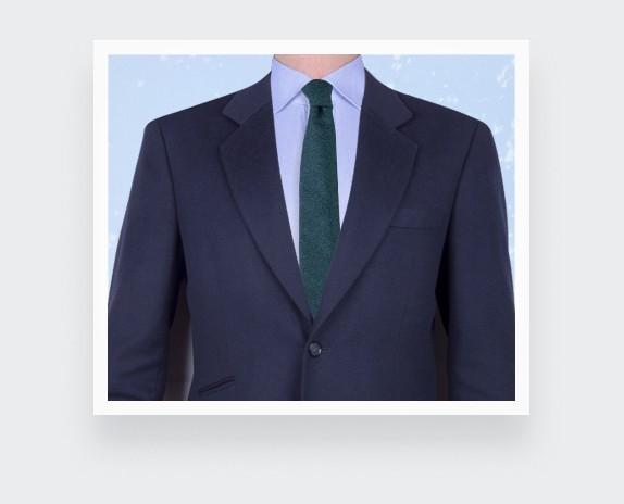 pigeon blue flannel tie - wool - cinabre paris