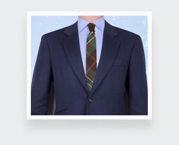 Green scott tartan tie - cinabre paris