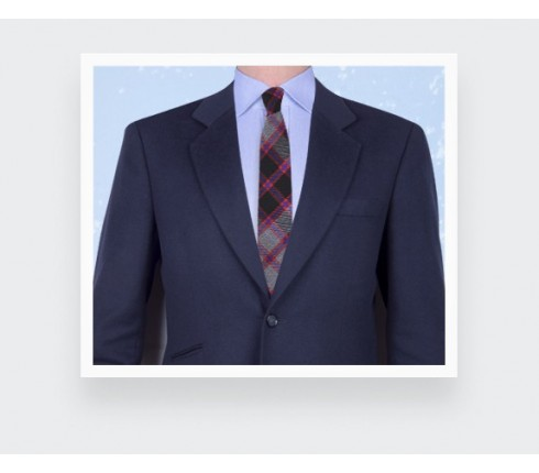 Grey tartan tie - cinabre paris