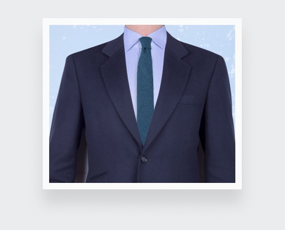 peacock blue maille tie - wool - cinabre paris