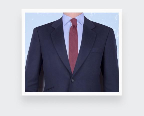 cravate maille fuchsia - laine - cinabre paris