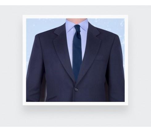 cravate maille marine - laine - cinabre paris