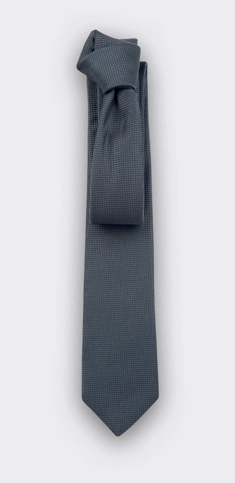 Grey Lizard Tie - Silk - Cinabre Paris
