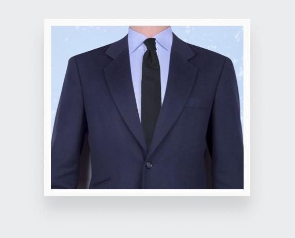 CINABRE Paris - Cravate - Peau Noir - Made in France