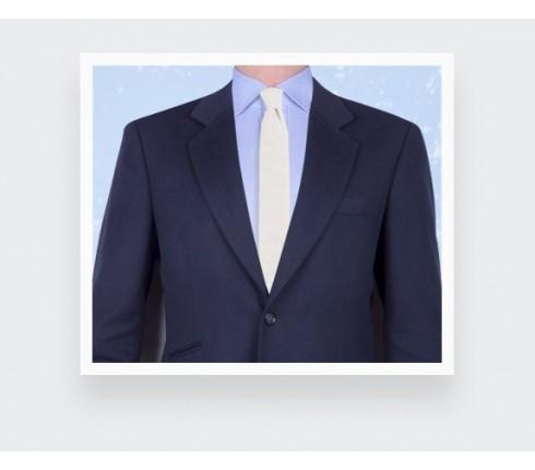 cravate seersucker blanc - coton et soie - Cinabre Paris