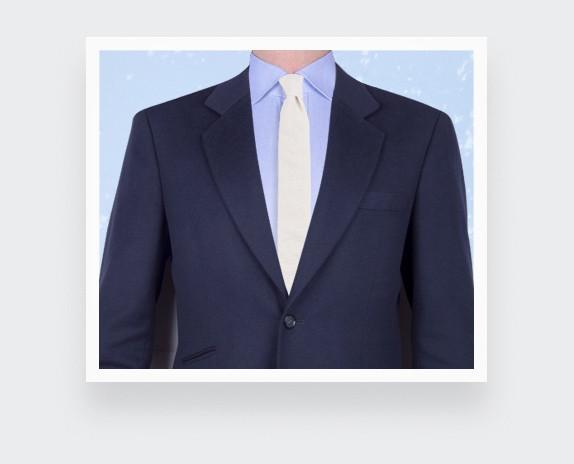 tie white seersucker - cotton and silk - CINABRE Paris