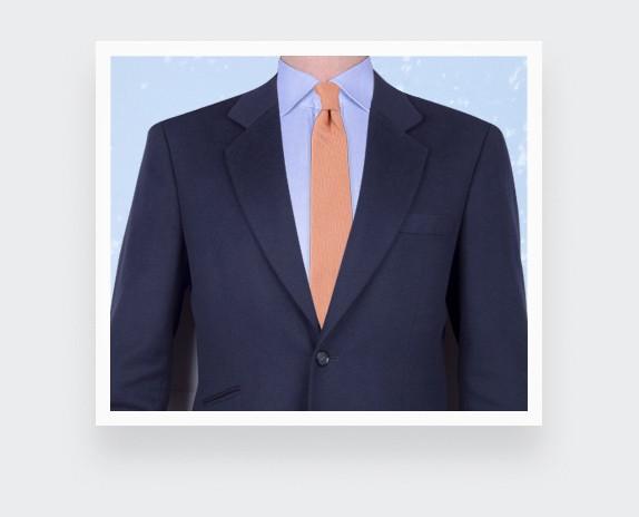 Cravate Soie tissée Orange - Soie - Cinabre Paris