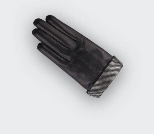 Herringbone Black Sport Gloves - cinabre paris