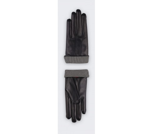 Herringbone Black Sport Gloves - cinabre paris