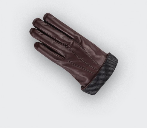 Brown Birdseye Sport Gloves - cinabre paris